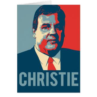 Esperança de Chris Christie Cartão Comemorativo
