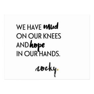 Esperança em nossas mãos cartão postal