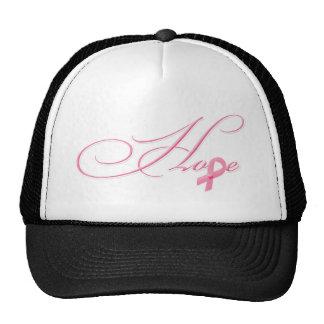 Esperança - fita cor-de-rosa boné