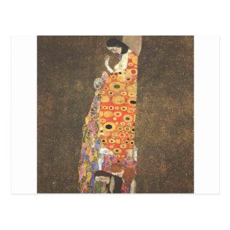 Esperança II por Gustavo Klimt Cartão Postal