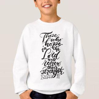 Esperança no senhor Escovadela Roteiro T-shirt