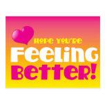 Esperança que você está sentindo melhor! obtenha b cartoes postais