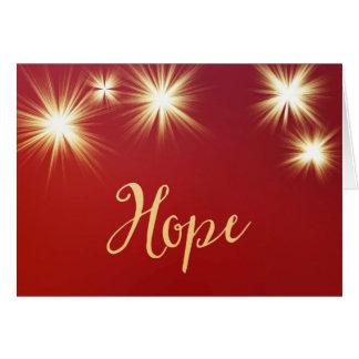 Esperança Starlit Cartão