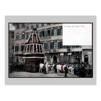 espetáculo de Florença Italia Scoppio del Carro do Cartao Postal