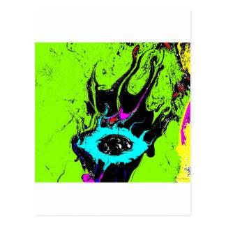 Espião 2 do olho cartão postal