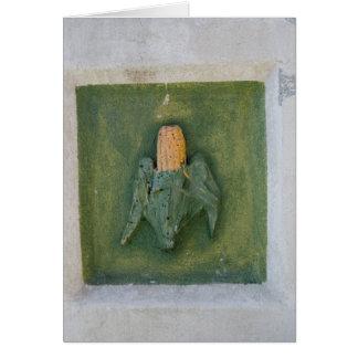 Espiga de milho cartão comemorativo