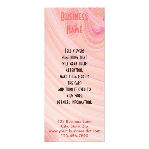 Espirais do Pastel do rosa e do pêssego Panfleto Informativo Personalizado