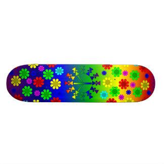 Espiral do sinal de paz do arco-íris skate