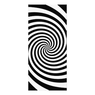 Espiral preta 10.16 x 22.86cm panfleto