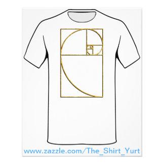 Espiral sagrado de Fibonacci da relação dourada Flyer 11.43 X 14.22cm
