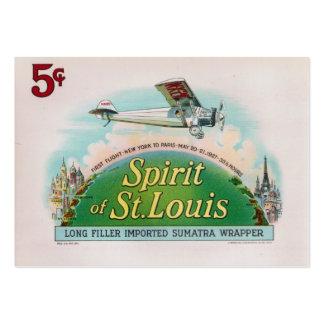Espírito da etiqueta do charuto do vintage de St Cartão De Visita Grande