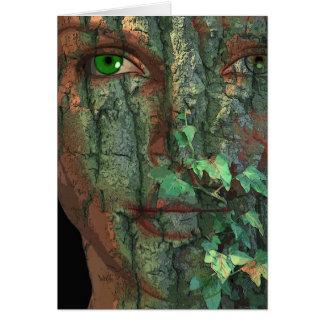 Espírito de árvore cartão de nota