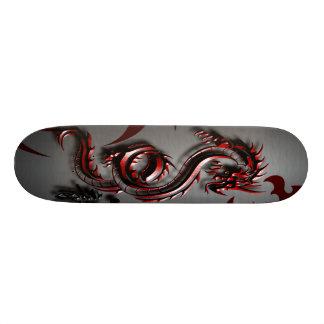 Espírito do dragão vermelho skate personalizado