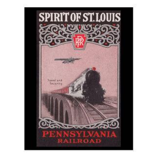 Espírito do trem de PRR de St Louis Cartão Postal