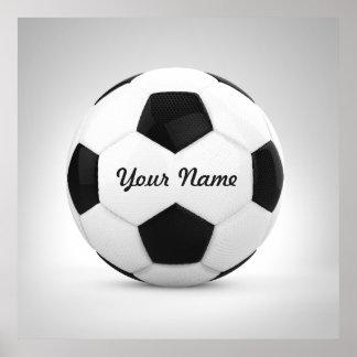 Esporte conhecido personalizado da bola de futebol pôster
