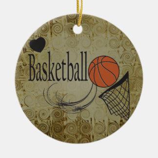 Esporte do basquetebol do Grunge Ornamento De Cerâmica