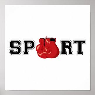 Esporte (encaixotamento) pôster