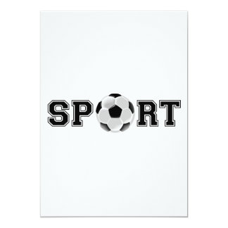 Esporte (futebol) convite 12.7 x 17.78cm
