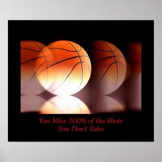 Esporte inspirador do basquetebol inspirado pôster