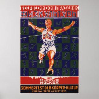 Esporte soviético 1927 pôster