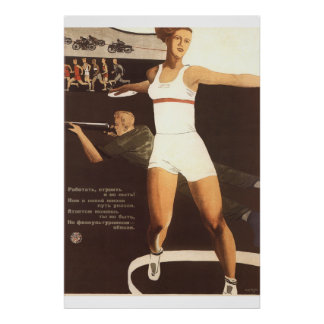 Esporte soviético póster