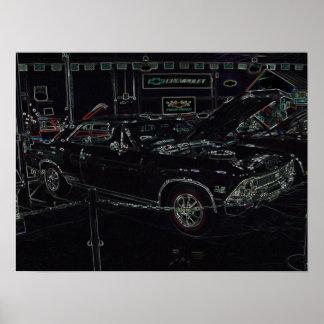Esporte super de 66 Chevrolet Chevelle Pôster