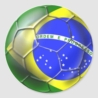 Esportes 2014 brasileiros da bandeira do futebol autocolantes