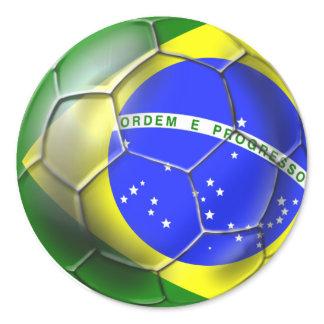 Esportes 2014 brasileiros da bandeira do futebol d autocolantes
