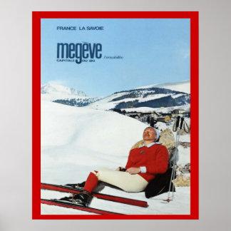 Esportes de inverno do vintage, France, Sabóia, Me Pôster