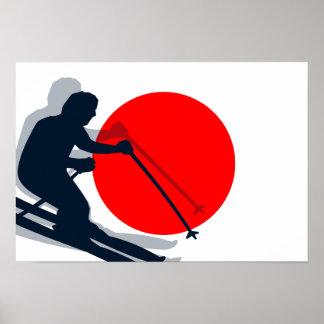 Esportes de inverno japoneses de Japão do esqui da Pôster