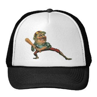 Esportes do vintage, jogador de beisebol irritado boné