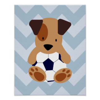 Esportes e berçário temático do futebol dos pôster