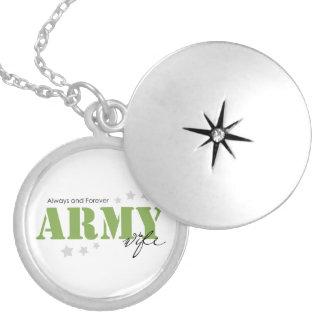 Esposa do exército - sempre e para sempre locket