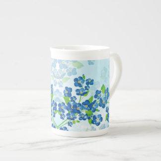 Esqueça-me não copo de chá das flores xícara de chá