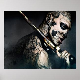 Esqueleto do zombi pôster