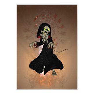 Esqueleto engraçado convite 12.7 x 17.78cm