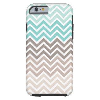 Esquema de cores da praia de Chevron Capa Tough Para iPhone 6