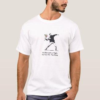 Esquerda contra o direito tshirt
