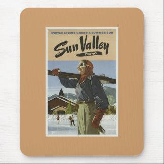 Esqui de Sun Valley do vintage Mouse Pad