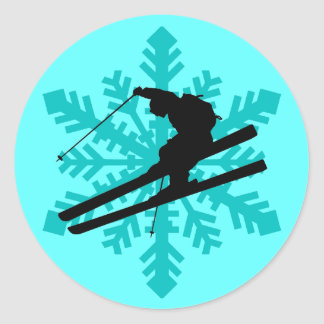 esqui do floco de neve adesivo
