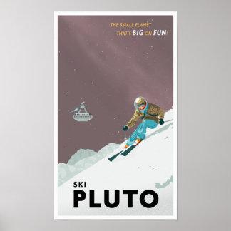 Esqui Pluto Poster