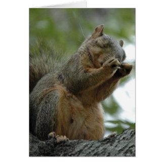 Esquilo de Fox vermelho Notecard Cartão De Nota
