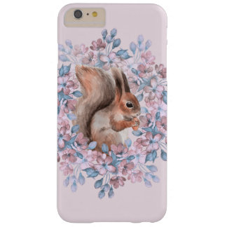 Esquilo e flores capa barely there para iPhone 6 plus