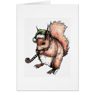 Esquilo festivo cartão comemorativo