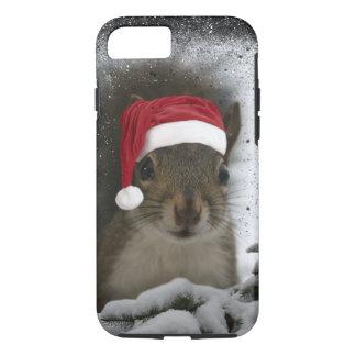 Esquilo original adorável do papai noel na neve capa iPhone 7