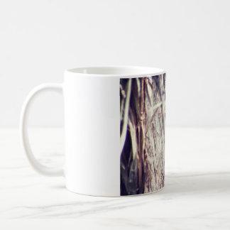 Esquilo que come em uma árvore caneca