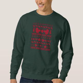"""Esquilo vermelho """"camisola feia do Natal """" Moleton"""