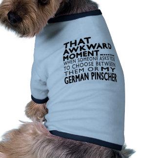 Esse Pinscher inábil do alemão do momento Roupa Para Cães