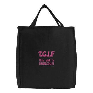 Esta menina de TGIF é FABULOSA Bolsas Para Compras