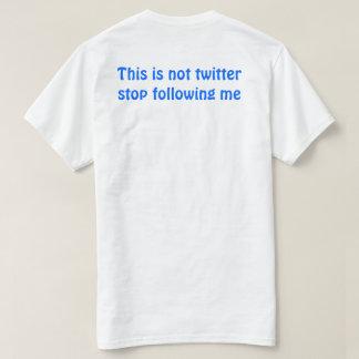 Esta não é camisa do Twitter
